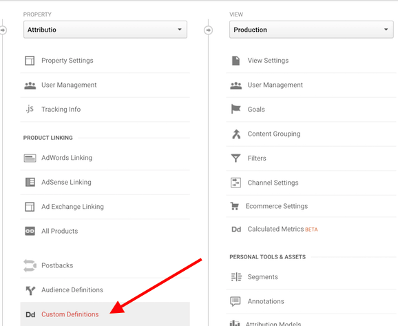 add custom dimension to google analytics